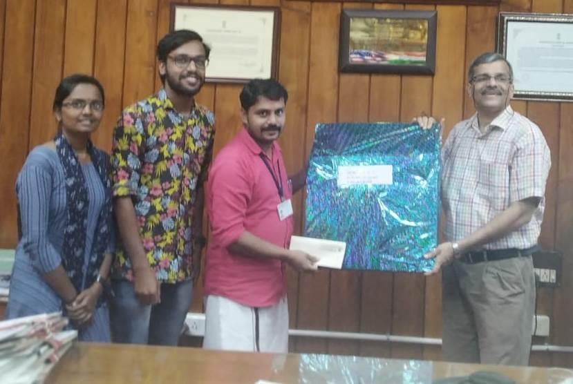 Eco friendly star presented to MG University V C