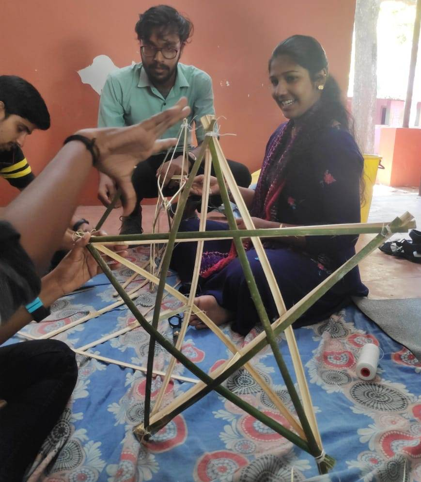 Making of Eco friendly Christmas star