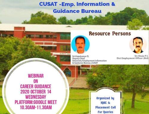 Webinar on Career Guidance