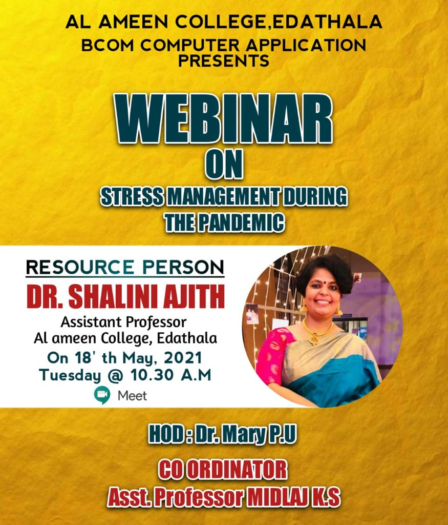 Webinar on Stress Management During The Pandemic Period