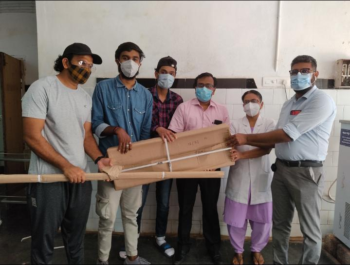 In association with Gandhi Jayanthi,NSS unit of Al Ameen College Edathala Distributed racks to Aluva Government Hospital