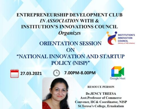 """Orientation Session on """"National Innovation and Startup Policy(NISP)"""""""